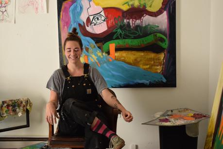 Painter's Studio, artist Skye Schirmer