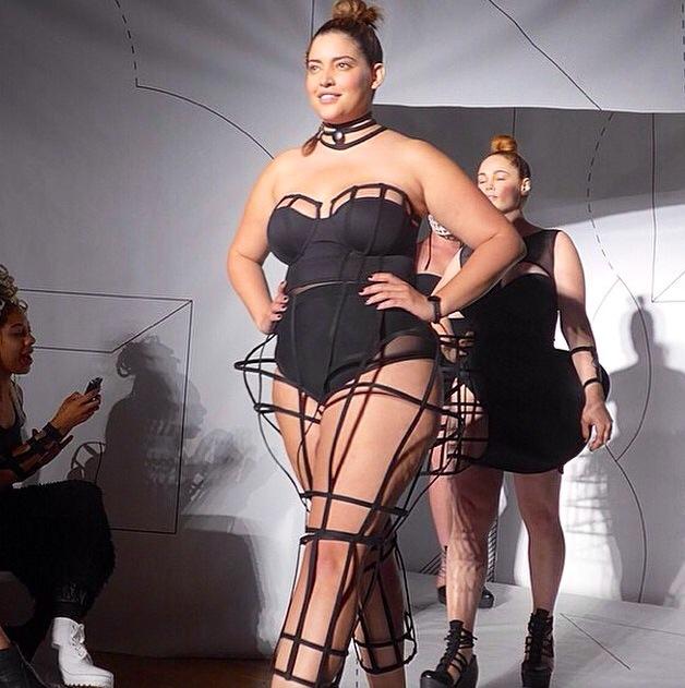 Denise Bidot la primera latina Plus Size Model en el NYFW 2014