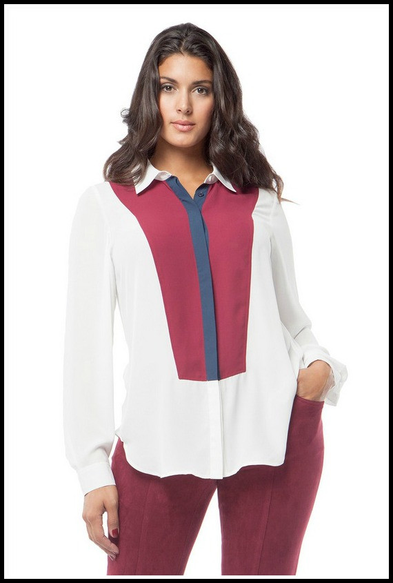 COLOR BLOCK BUTTON DOWN in Navy & Rasberry_$103_Mynt 1792.jpg