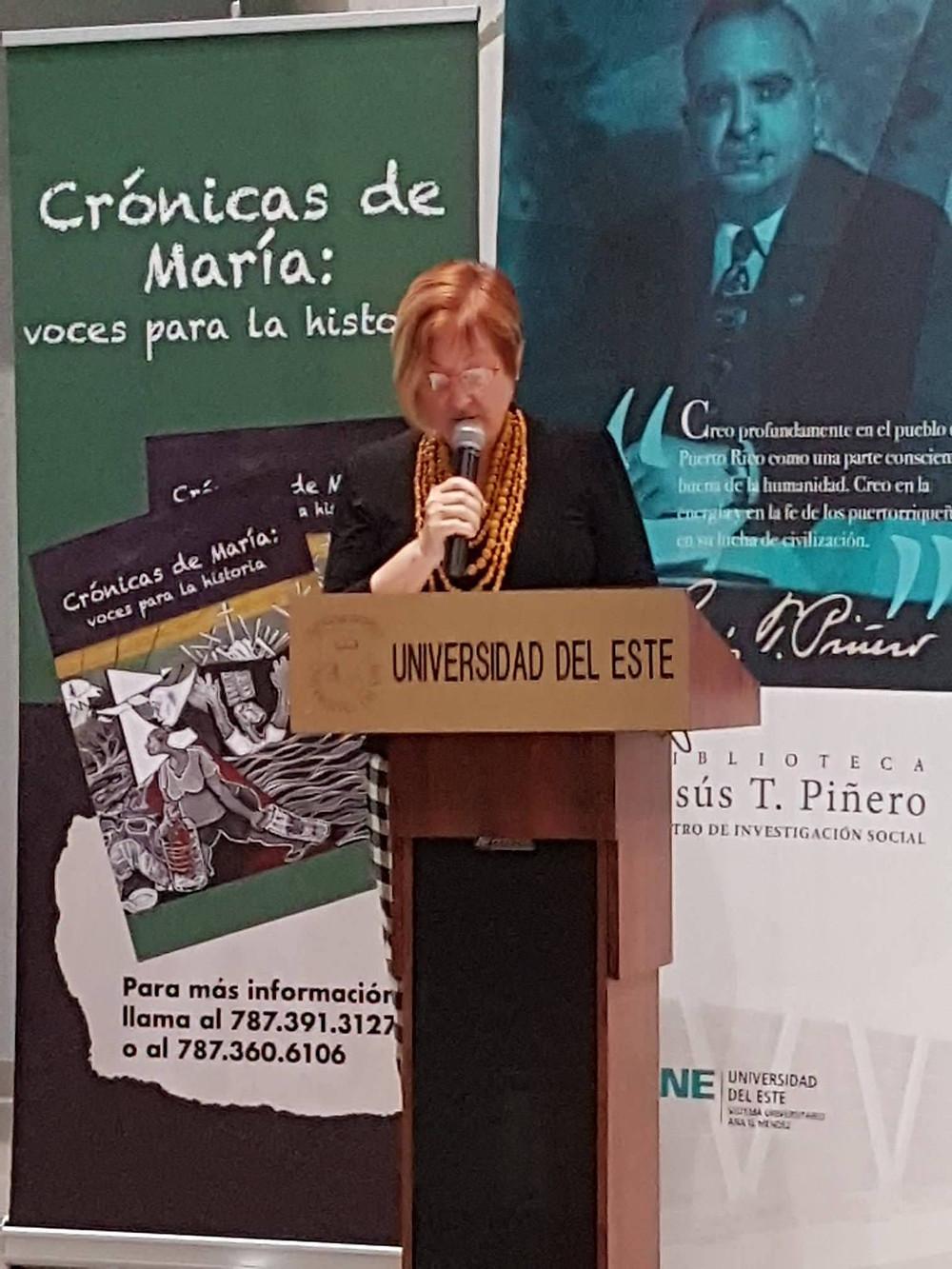"""María Zamparelli, gestora de """"Crónicas de María"""""""