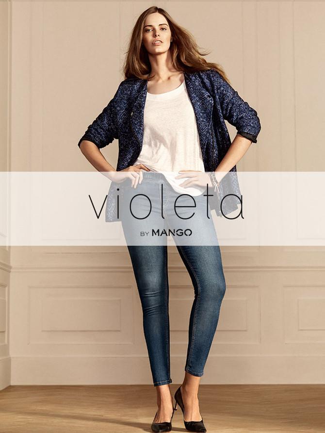 Mango lanza en Estados Unidos su línea de tallas grandes llamada Violeta a través de su tienda Onlin