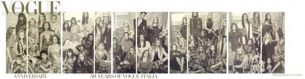 Candice Huffine es parte de la Portada de las 50 modelos celebran el 50 aniversario de Vogue Italia.