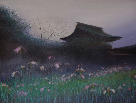 Irises Early Evening by Thomas Lamb
