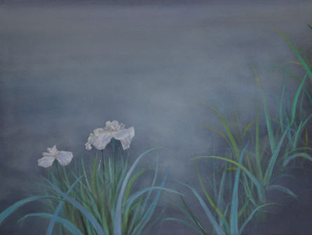 Irises at Night by Thomas Lamb