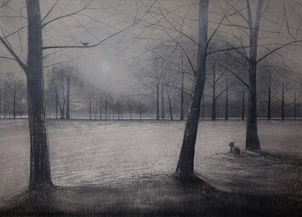 Blackbird and Lamb at Sunrise by Thomas Lamb