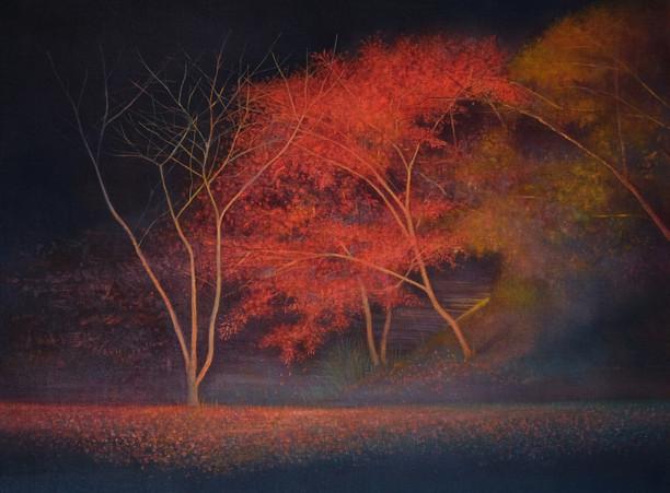 Autumn Tree Night View by Thoams Lamb