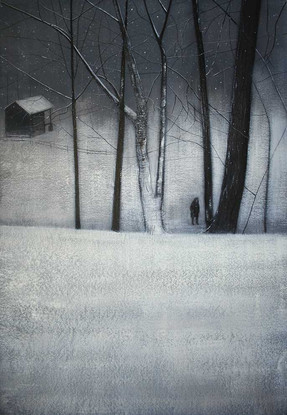 Yuki Amongst Trees in Winter II by Thomas Lamb