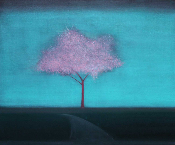 Blossom Tree in the Rain by Thomas Lamb