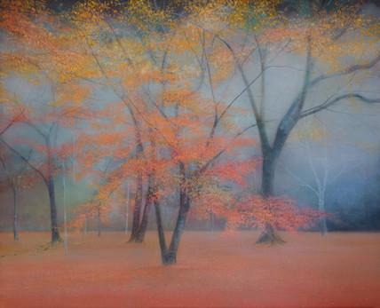 Trees in Autumn by Thomas Lamb