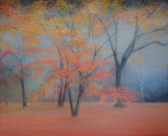 Trees in Autumn by Thomas Lamb