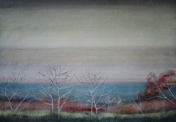 Tree Branches by the Sea by Thomas Lamb