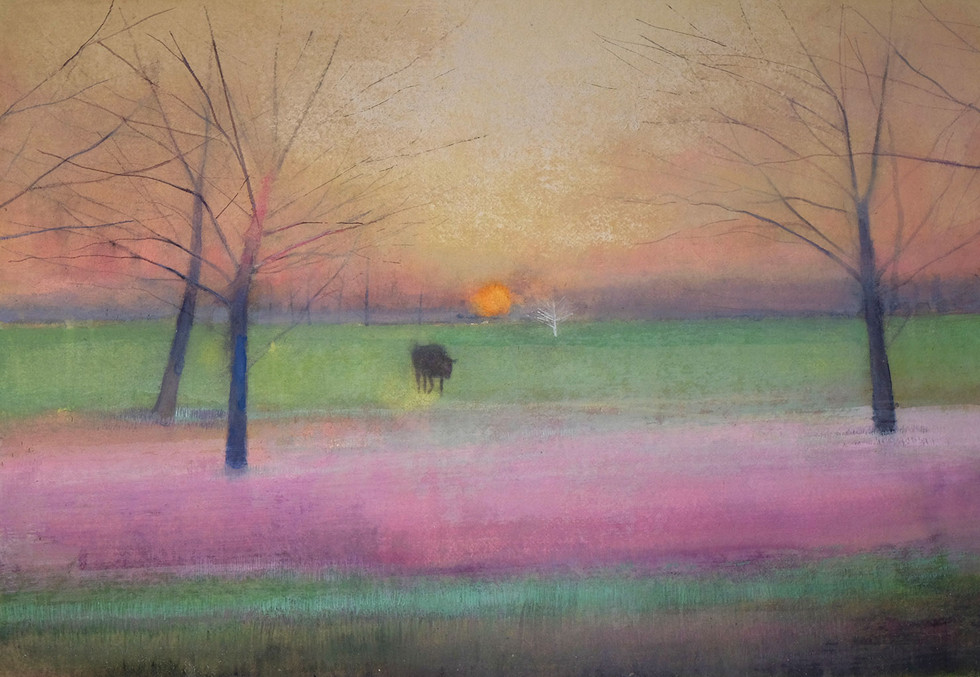 Field Early Evening by Thomas Lamb