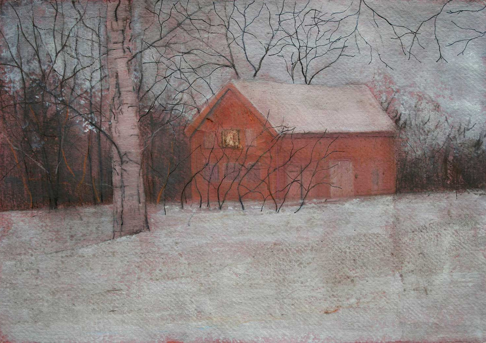 Red House in Winter by Thomas Lamb