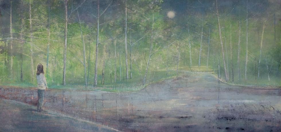Summer Evening beside Lake by Thomas Lamb