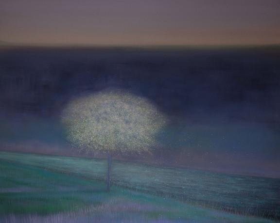 Blossom Tree beside River by Thomas Lamb