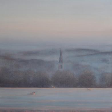 Chatsworth at Dawn, triptych by Thomas Lamb