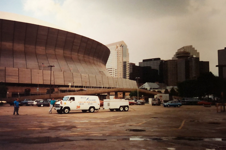 Blue Flash working at The New Orleans Superdome.