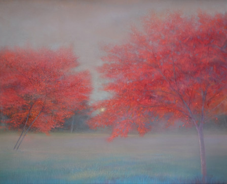 Two Trees in Autumn by Thomas Lamb