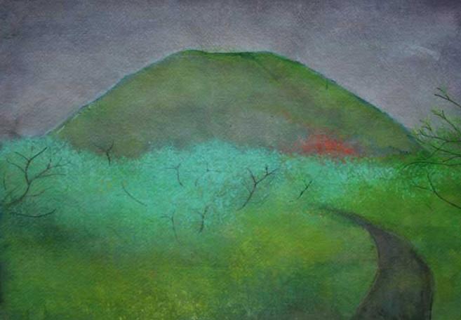 Path to Volcano by Thomas Lamb