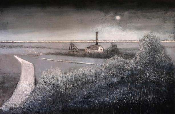 Colliery at Night by Thomas Lamb