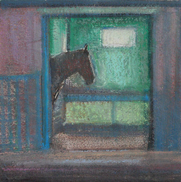 Horse in Stable study II by Thomas Lamb