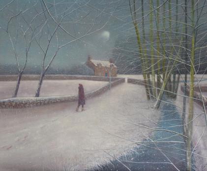 Path through Snowfall by Thomas Lamb