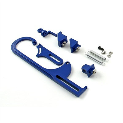 Blue Throttle Bracket Kit W/Trans Cable Mount
