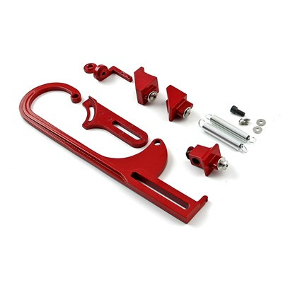 Red Throttle Bracket Kit W/Trans Cable Mount