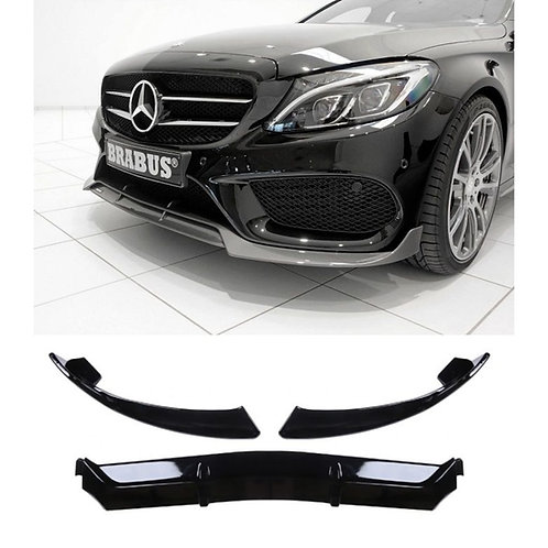 Mercedes W205 Plastik Brabus Ön Tampon Lipi 2019 ve Sonrası Modellere Uyumlu