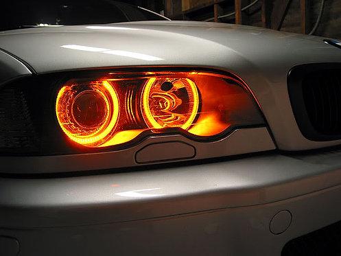 Bmw 3 Serisi E36-E39 Turuncu Ledli Angel Eyes Halka Seti