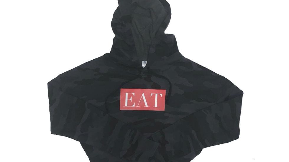 EAT Camo Crop Top Hoodie