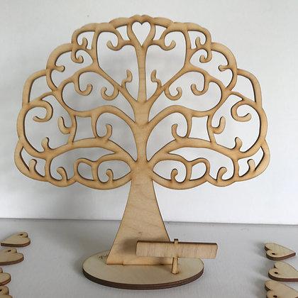 Flutter Heart Tree (25x25cm)