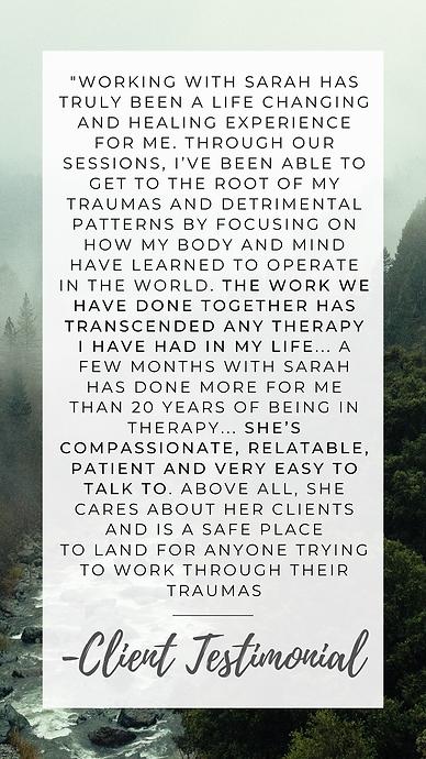Sarah Baldwin Testimonial