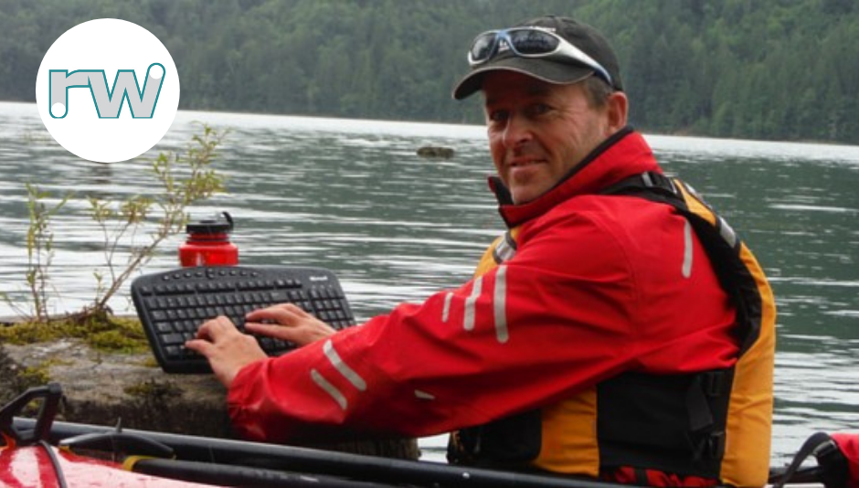 Rob Weiss founder of RW Networks Inc. kayaking
