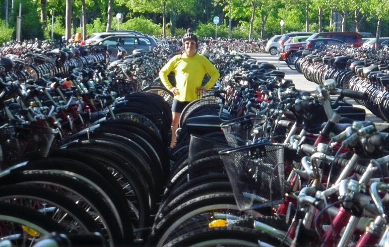 Rob Weiss standing in bicycle parkade