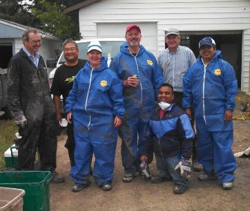 Vantage Residential and Commerical Cleaners Volunteering at High River Flood Clean up
