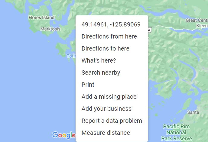single click directions in google maps