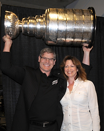 Ryan and Jenn Walter with the Stanley Cup