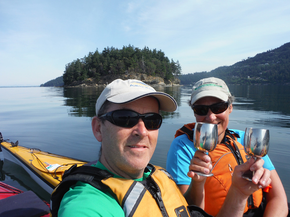 Rob and Jane Weiss, of RW Networks, celebrating a kayak adventure