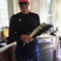 Ryan's first catch at the Ryan Walter Breakaway Retreat Centre
