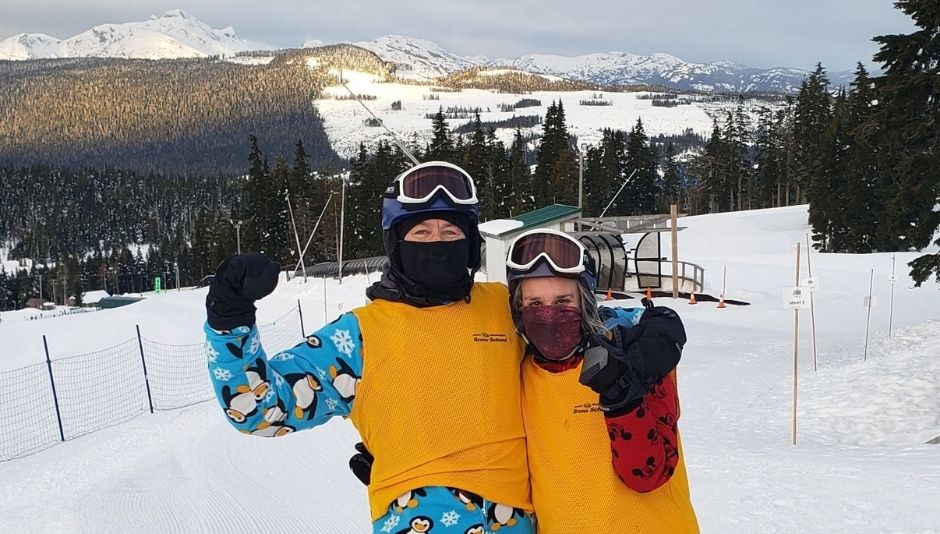 RW Networks Inc. management team, Rob Weiss and Jane Weiss share a lighter moment while at Mount Washington Alpine Resort