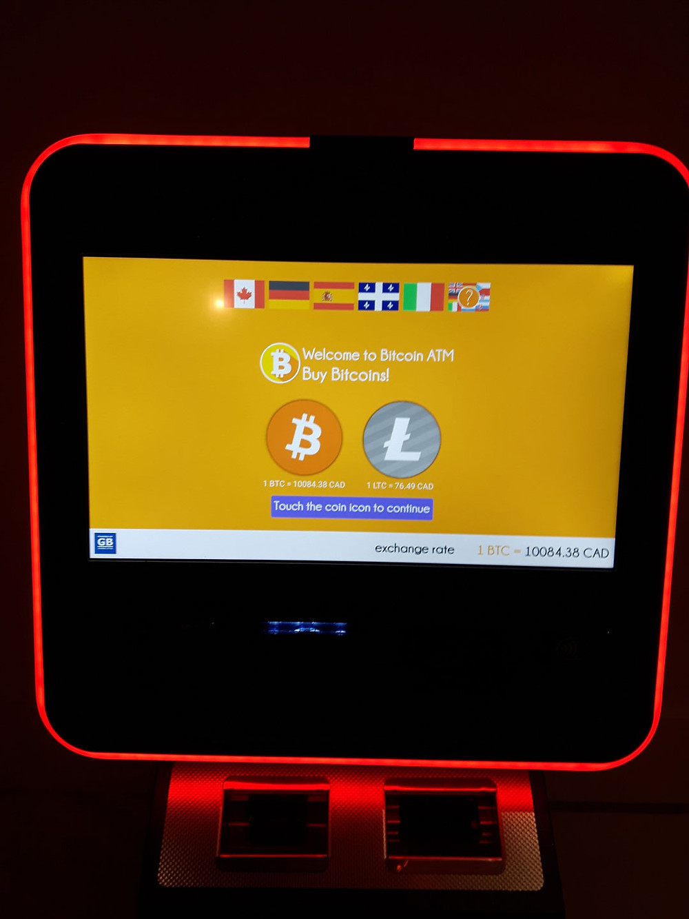 Bitcoin ATM in Whistler, BC