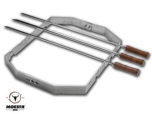 MOESTA Churrasco BBQ Set für Smokin´PizzaRing 57 cm