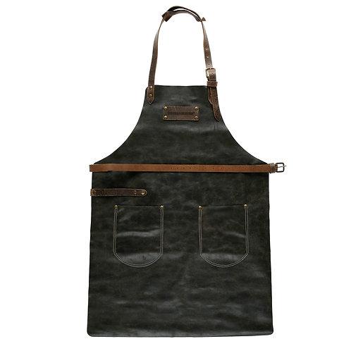 Feuermeister Lederschürze, Antikleder Braun mit Taschen