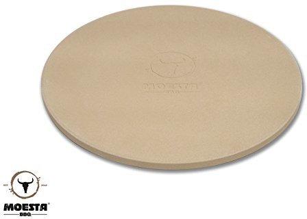 MOESTA Pizzastein mit Stier 36,5 cm