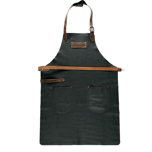 Feuermeister Lederschürze 2, Nappaleder schwarz mit Taschen