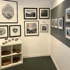 Gallery Shot  of work by printmaker Eleanor Whiteman