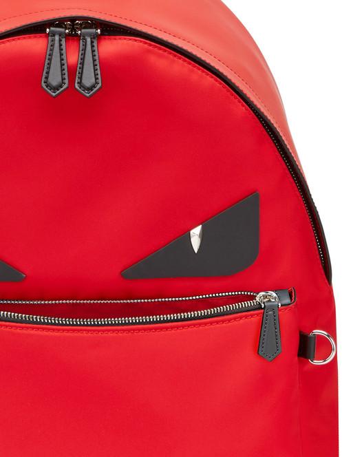 d5eccf699c3 FENDI BAG BUGS BACKPACK RED AND BLACK MONSTER EYES 7VZ012A2WLF08LP