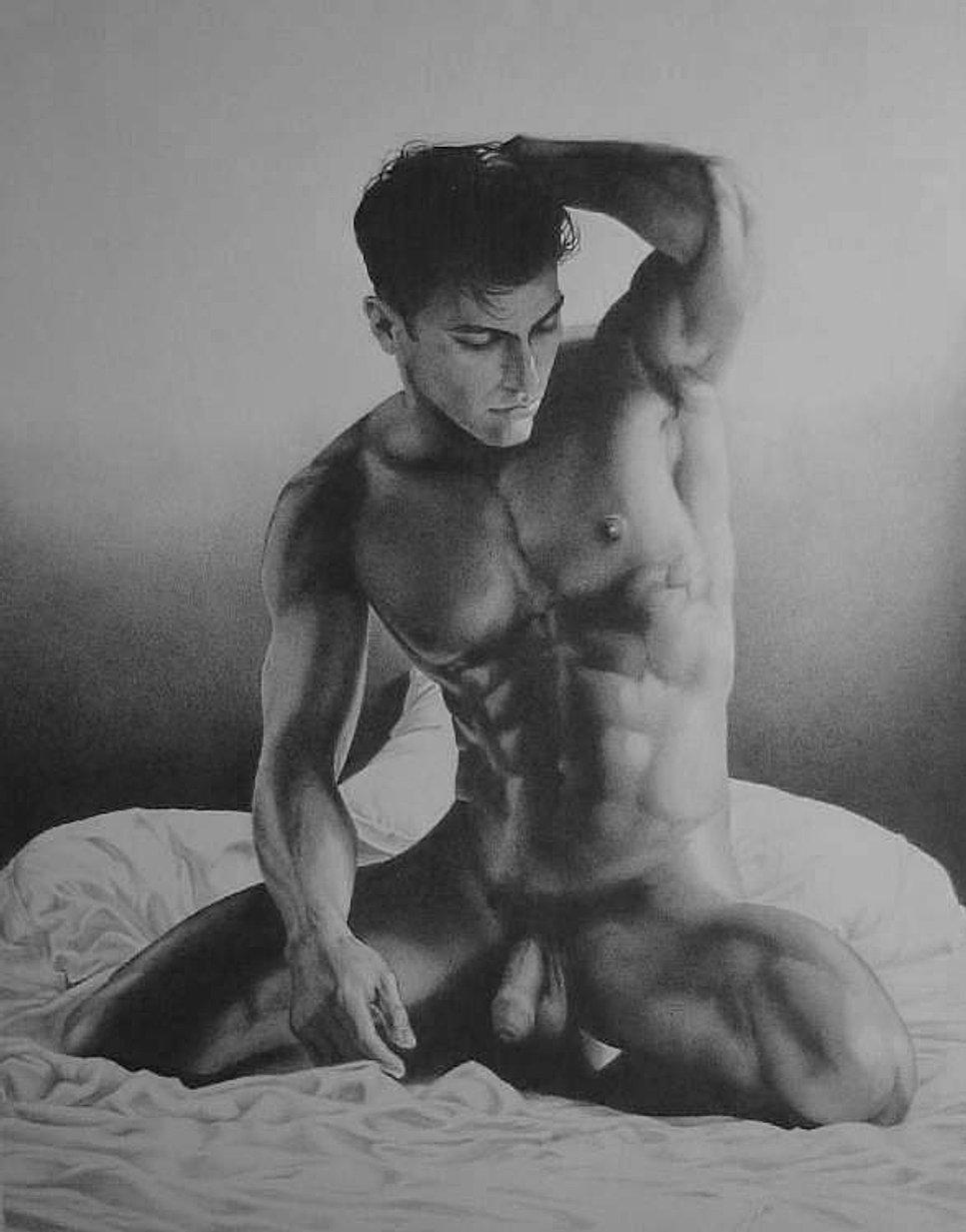 Карандашом голые парни на рисунках
