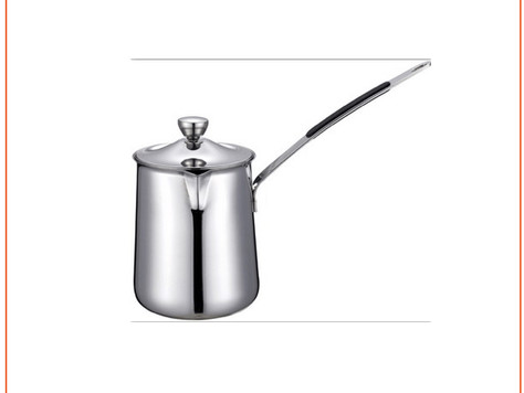 Stainless steel milk frothing pitcher